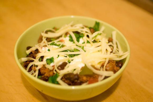 miseczka z chili con carne