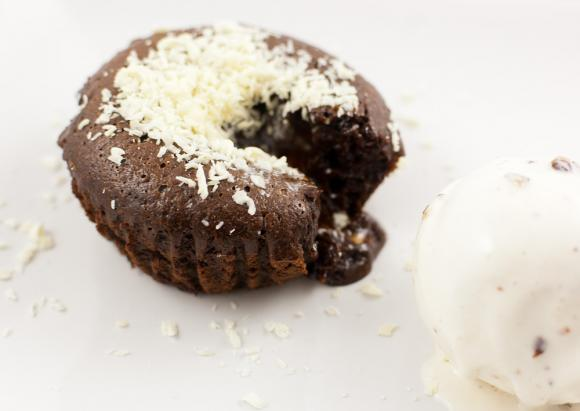 fondant, ciastko czekoladowe