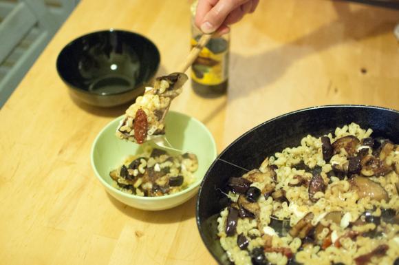 Makaron z bakłażanem i mozzarellą