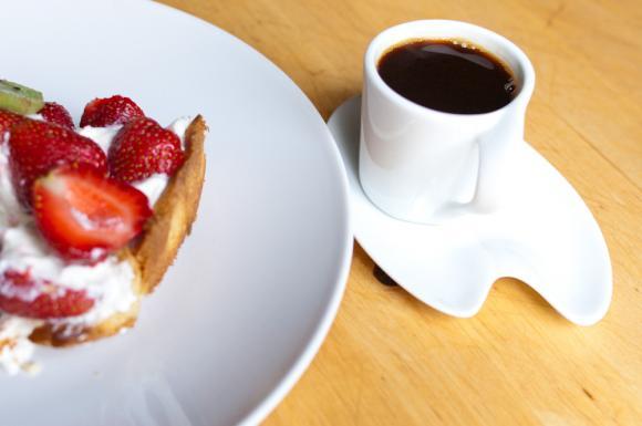 kawa i tatra z truskawkami