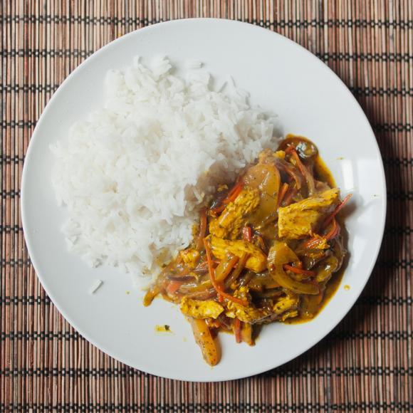 Kurczak z ryżem basmati