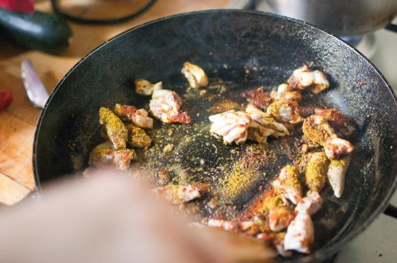 kurczak z przyprawą shoarma
