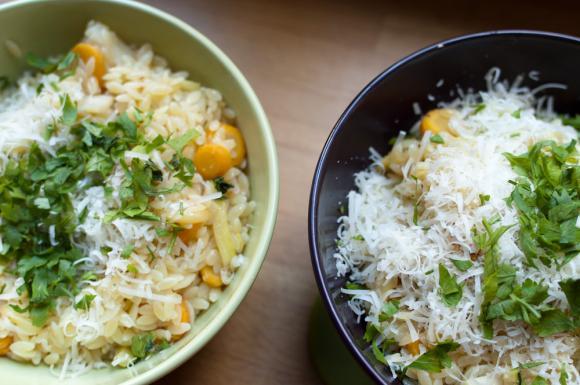 Risini z młodymi warzywami