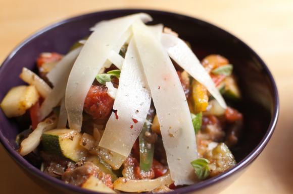 ratatouille warzywne z pecorino