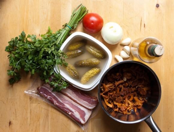 składniki na sos z kurek