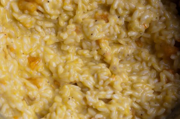 gotowanie risotto z dynią