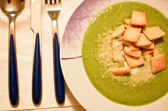 Zupa - krem z zielonego groszku