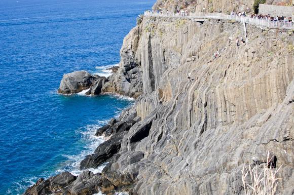 Pierwszy etap trasy, z Riomaggiore do Manaroli...