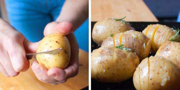 przygotowywanie pieczonych ziemniaków