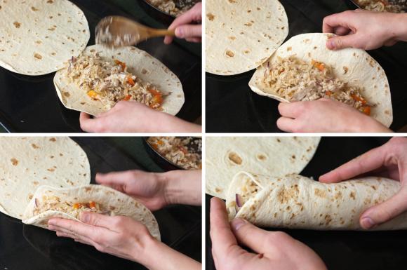 jak zwijać burrito