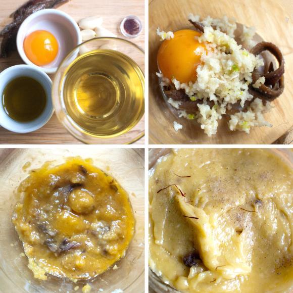 przygotowanie sosu aioli