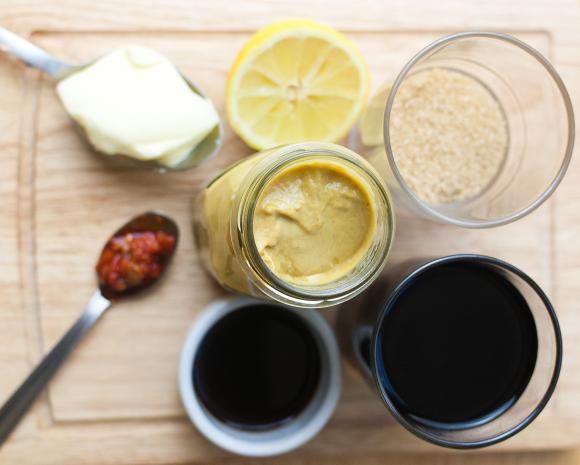 składniki na balsamiczny sos barbecue