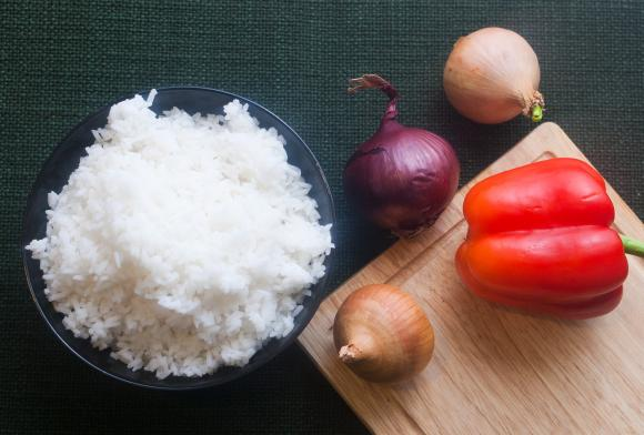 składniki na burrito
