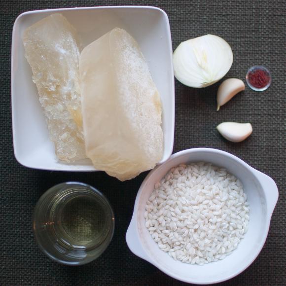 składniki na risotto alla milanese