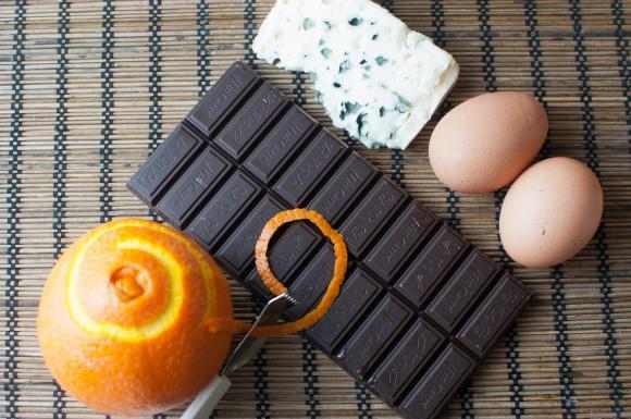 składniki na suflet czekoladowy