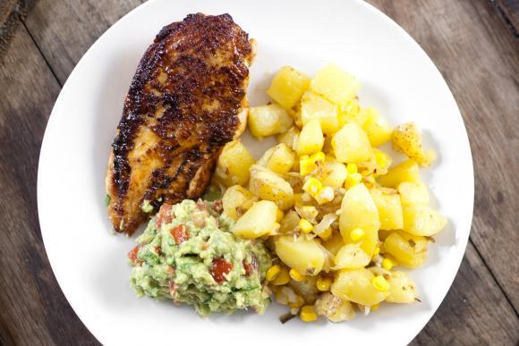 Pierś kurczaka z kuminem i ziemniakami Yucatan