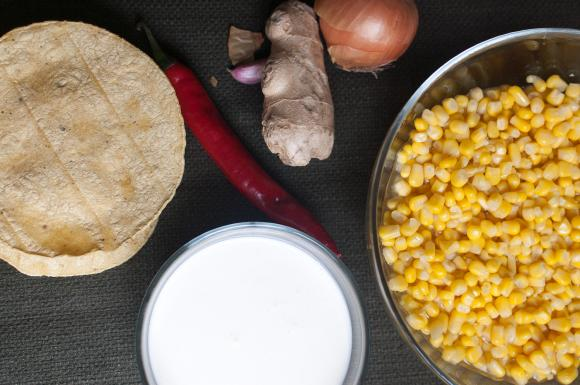 składniki na krem z kukurydzy