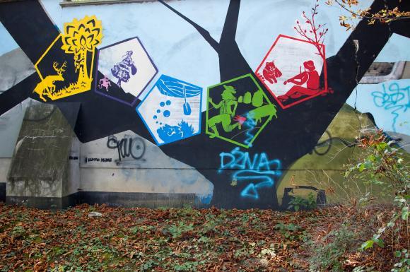 Mural w Cieszynie